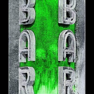 Paint Photograph - Neon Bar by Ca Photography