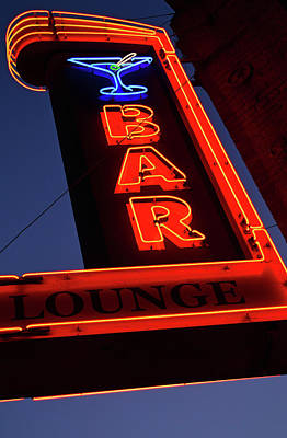 Martini Royalty-Free and Rights-Managed Images - Neon Bar by James Kirkikis