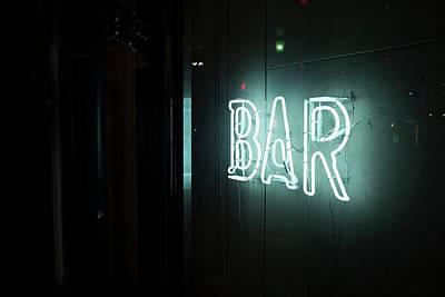 Neon Bar Sign Print by Alex Knight