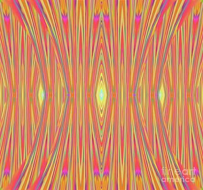 Digital Art - Neon Catipillar Stripe by Expressionistart studio Priscilla Batzell