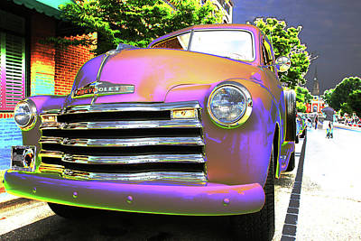 Photograph - Neon Chev by Karol Livote