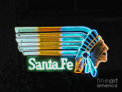 Photograph - Neon Chief by Steven Parker