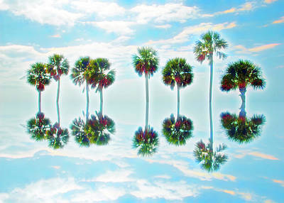 Photograph - Neon Colors Palm Tree Reflection by Aimee L Maher Photography and Art Visit ALMGallerydotcom