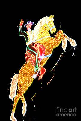 Photograph - Neon Cowboy by Chiara Corsaro