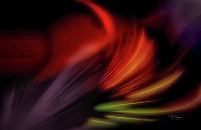 Digital Art - Neon Dancing by Bill Posner