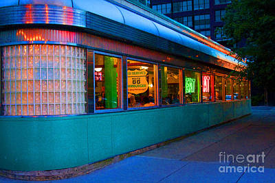Photograph - Neon Diner by Crystal Nederman
