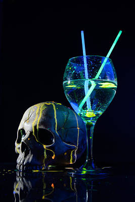 Martini Royalty-Free and Rights-Managed Images - Neon Drink by Robert Deak