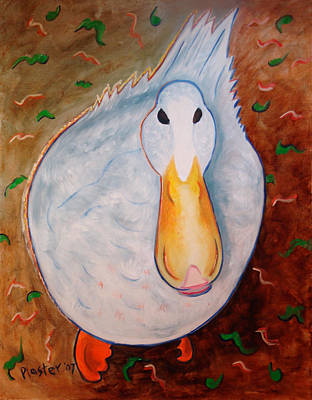 Painting - Neon Duck by Scott Plaster