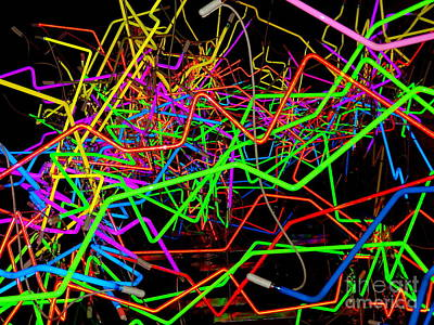 Digital Art - Neon Fantasy #3 by Ed Weidman