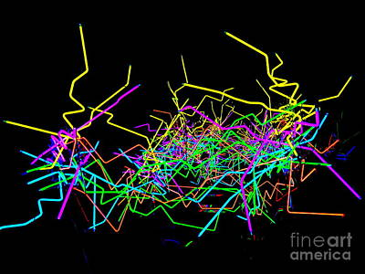 Digital Art - Neon Fantasy by Ed Weidman