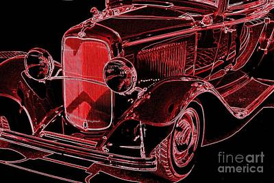 Photograph - Neon Ford Coupe by Frank Townsley