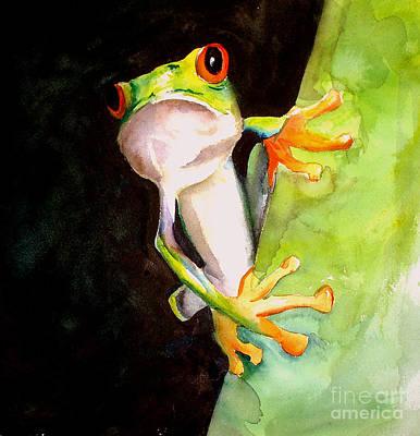 Neon Frog Art Print