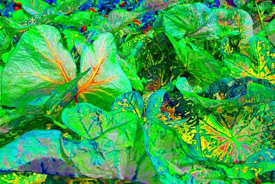 Art Print featuring the photograph Neon Garden Fantasy 1 by Marianne Dow