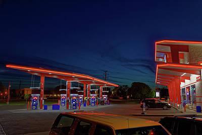 Photograph - Neon Gas by Steve Gravano