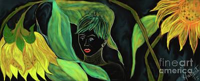 Self-realization Digital Art - Neon Girl - Self Discovery by Nudrat Anjum