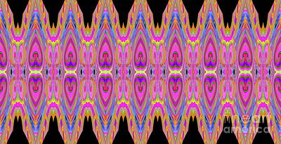 Digital Art - Neon Hearts  by Expressionistart studio Priscilla Batzell