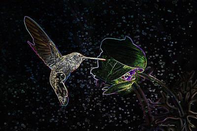 Photograph - Neon Hummingbird by Ericamaxine Price