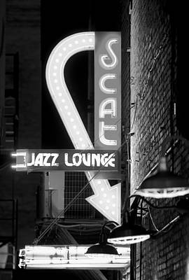 Photograph - Neon Jazz Bw by Rospotte Photography