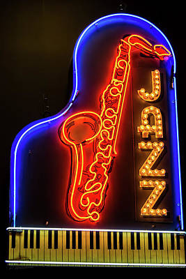 Photograph - Neon Jazz by Pamela Williams