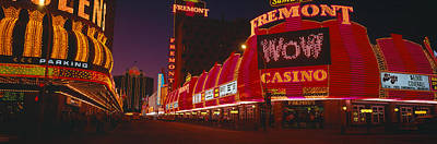 Center Glow Photograph - Neon Lights At Las Vegas, Nevada by Panoramic Images
