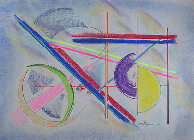 Drawing - Neon Line by J R Seymour