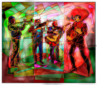 Painting - Neon Mariachi by Dean Gleisberg