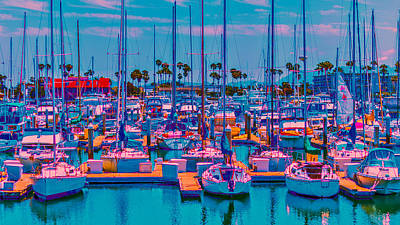 Photograph - Neon Marina by Jody Lane