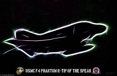 Mcdonnell Douglas F-4 Phantom Ii Digital Art - Neon Marine Phantom by Tommy Anderson