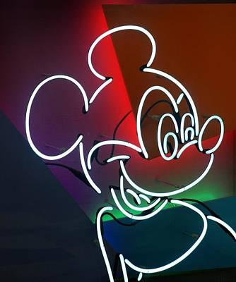 Neon Mickey Art Print