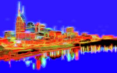 Mixed Media - Neon Nashville by Dan Sproul