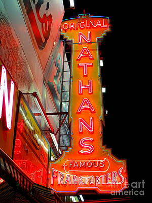 Photograph - Neon Nathans by Ed Weidman