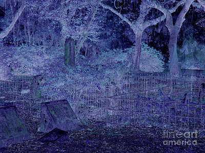 Photograph - Neon Night At The Cemetery by D Hackett