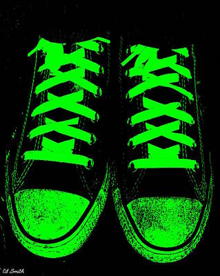 Foot Wear Digital Art - Neon Nights by Ed Smith