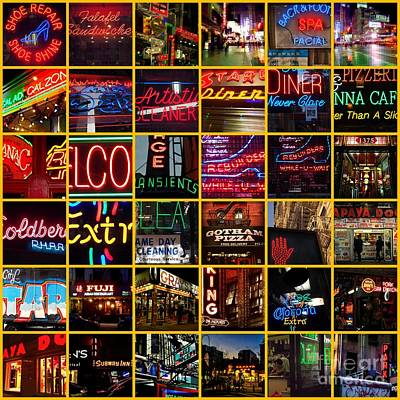 Photograph - Neon Of New York - Picture Panel by Miriam Danar