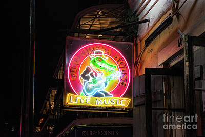 Yellow Photograph - Neon Sign Of Old Opera House by Tod and Cynthia Grubbs