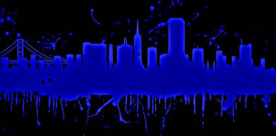 Neon San Francisco Skyline Art Print
