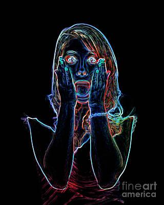 Studio Art Jewelry Photograph - Neon Scream by Betty LaRue