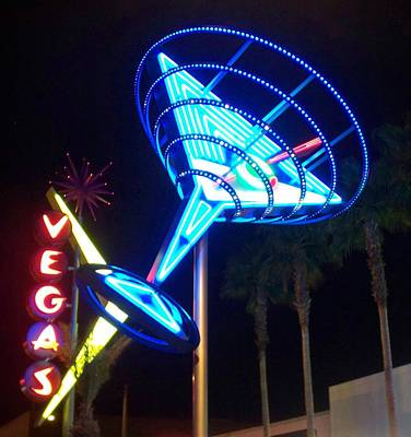 Martini Royalty-Free and Rights-Managed Images - Neon Signs 1 by Anita Burgermeister