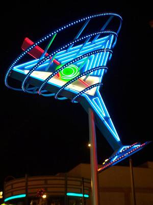Martini Royalty-Free and Rights-Managed Images - Neon Signs 4 by Anita Burgermeister
