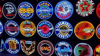 Photograph - Neon Signs by Judith Rhue