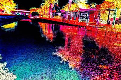 Negative Effect Digital Art - Neon Streets by Jenn Beck