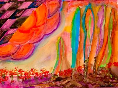 Painting - Neon Surreal Place  by Dorothy Visker