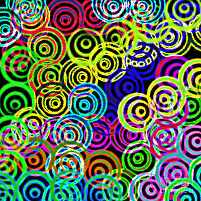 Digital Art - Neon Swirls by Susan Stevenson