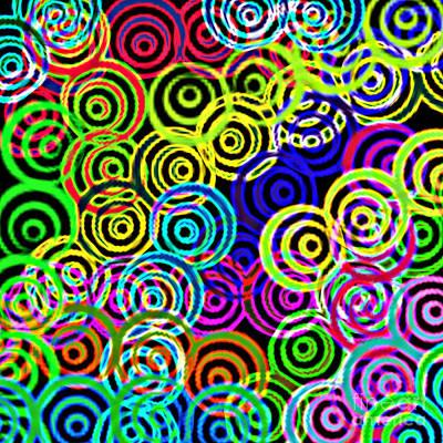 Digital Art - Neon Swirls by Susan Stevenson
