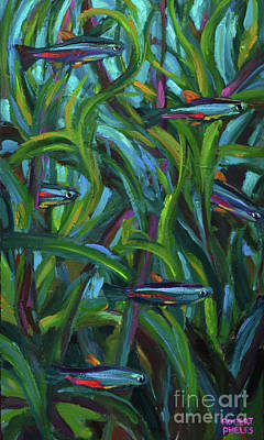 Painting - Neon Tetras by Robert Phelps