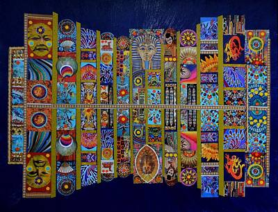 Mixed Media - Neon Treasures by Bob Craig