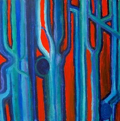 Painting - Neon Trees by Claudia Croneberger