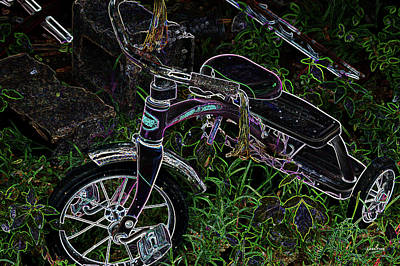Digital Art - Neon Trike by Lesa Fine