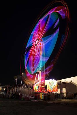 Neon Twirl Art Print by Bryan Moore