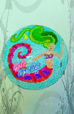 Neon Undersea Invitation Girls Night Out Original